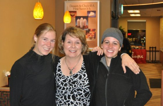 My friend Amber and I with the owner of a new Chick-fil-A in Denver after a long, nippy night.