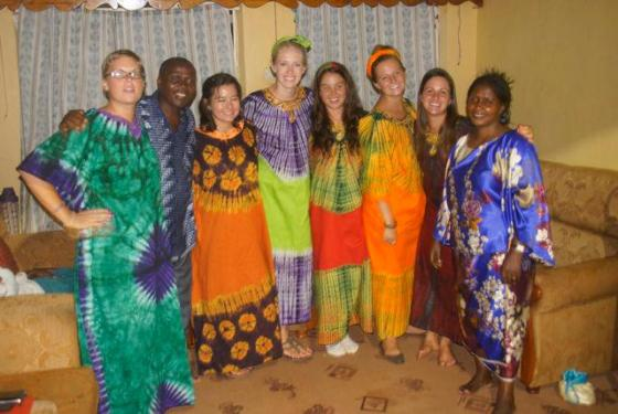 World Race mission team to Wobulenzi, March 2012. L-R: Katie, Pastor Moses, Brittany, Stephanie, Natalie, Shay, myself, and Mama